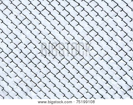Frost On Chain Link Fence