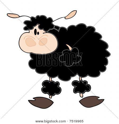 Funny Black Sheep.