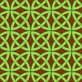 picture of wiccan  - vector seamless pattern with traditional celtic motives - JPG