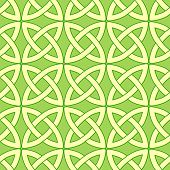 pic of wiccan  - tender spring green vector seamless pattern with celtic ornament - JPG