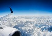 picture of stratus  - View from airplane window - JPG