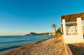 picture of costa blanca  - Early morning sunrays on Altea Bay Costa Blanca Spain - JPG