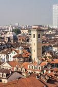foto of turin  - A view from above of the roofs of Turin - JPG