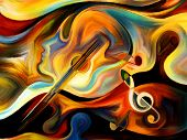 stock photo of psychedelic  - Inner Melody series - JPG