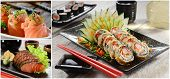 picture of sushi  - collage sushi - JPG