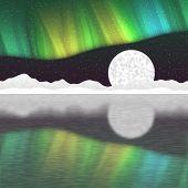 pic of arctic landscape  - Arctic pole landscape generated hires texture background - JPG