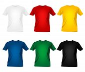 picture of t-shirt red  - colorful man t - JPG