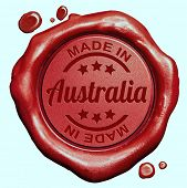 foto of wax seal  - Made in Australia red wax seal or stamp - JPG