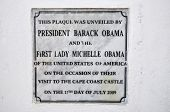 Постер, плакат: Cape Coast Castle Obama Plaque Ghana