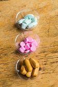 image of antibiotics  - diferent Tablets pills capsule heap mix therapy drugs doctor flu antibiotic pharmacy medicine medical - JPG