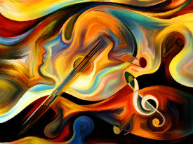 stock photo of expressionism  - Inner Melody series - JPG