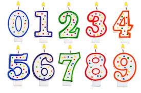 pic of number 7  - Birthday candles number set isolated on white background - JPG