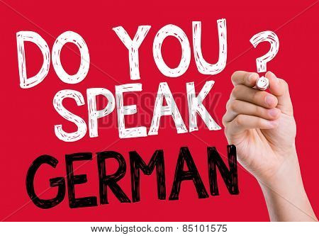 Do you speak German written on the wipe board