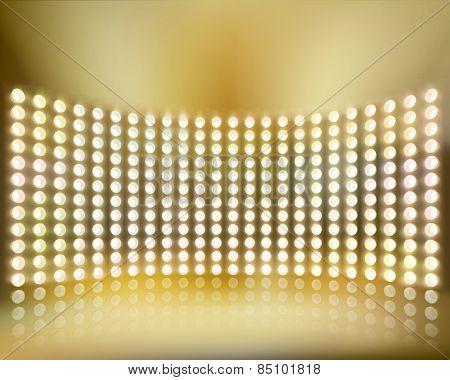 Light show. Vector illustration.