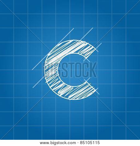 C letter architectural plan