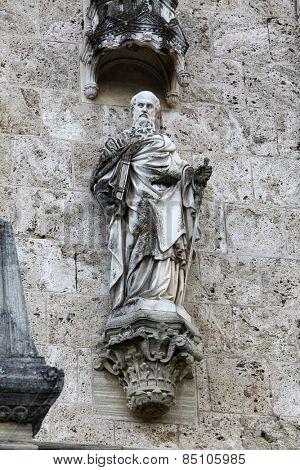 MARIJA BISTRICA, CROATIA - JULY 14: Saint Paul, basilica Assumption of the Virgin Mary in Marija Bistrica, Croatia, on July 14, 2014