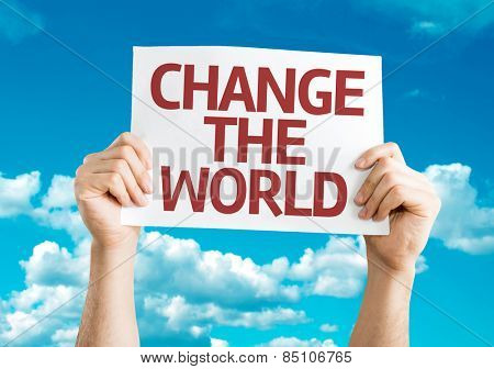 Change The World card with sky background