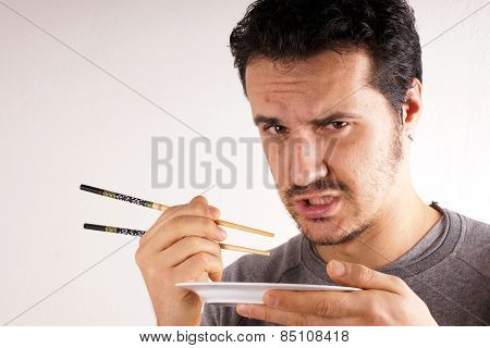 Man with chopstick