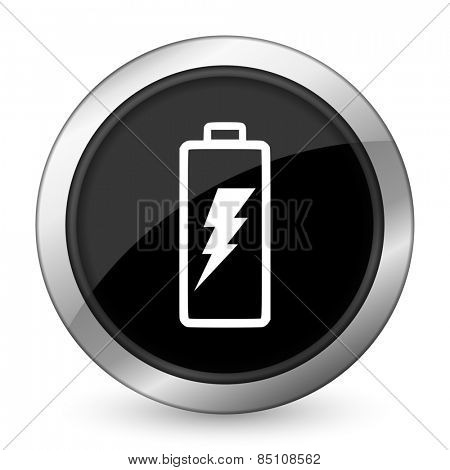battery black icon power sign