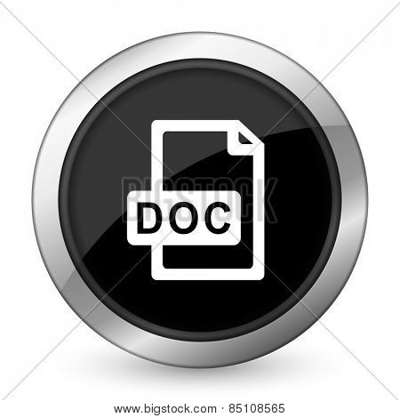 doc file black icon