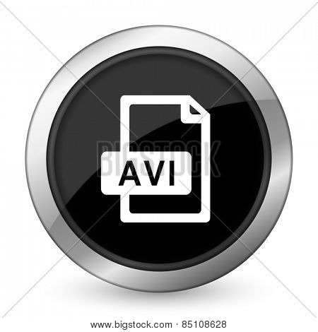 avi file black icon