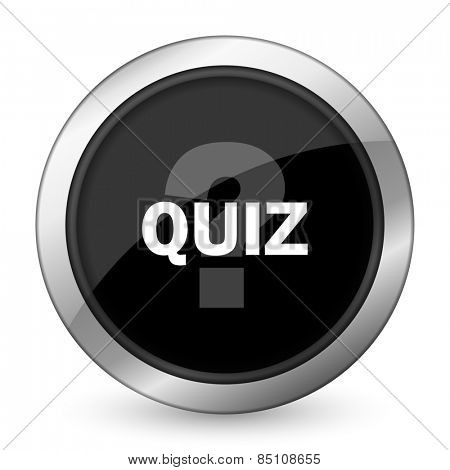 quiz black icon