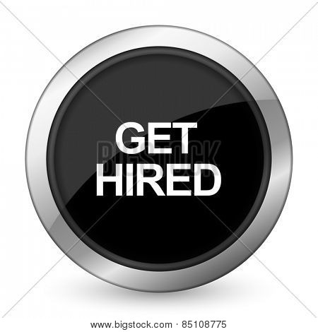get hired black icon