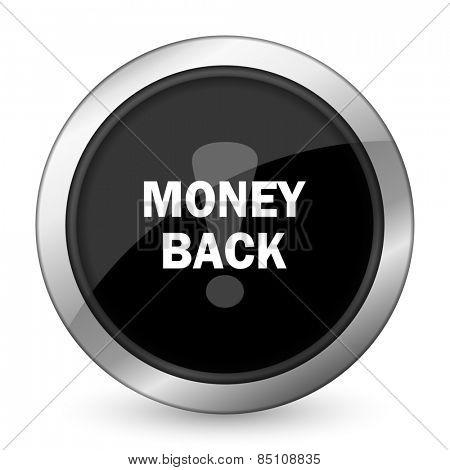 money back black icon