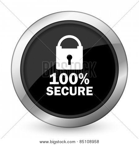 secure black icon