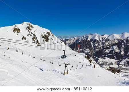 Mountains ski resort Bad Hofgastein Austria - nature and sport background