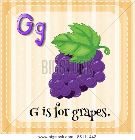 Alphabet G is for grapes