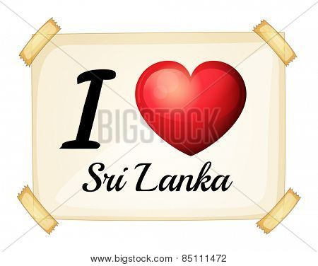 I love Sri Lanka sign posted on the wall