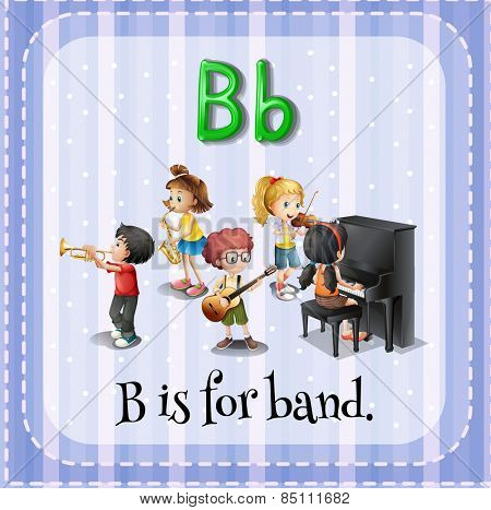 Alphabet B is for band