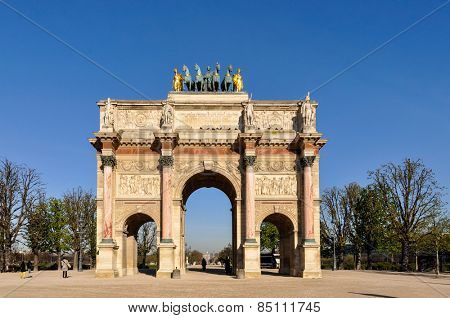 The Arc de Triomphe du Carrousel in Paris, France