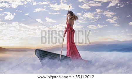 Fantasy art photo of a beautiful lady