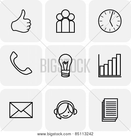 Communication and bussines icons