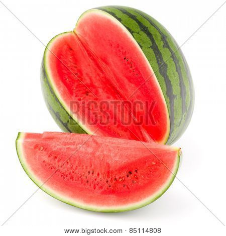 Sweet watermelon isolated on white background cutout