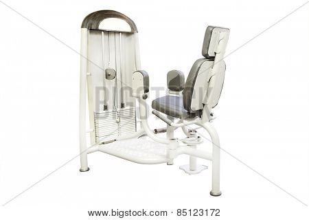 Fitness club gym with sport equipment