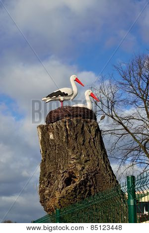 Nest Of Storks. Sculptural Composition