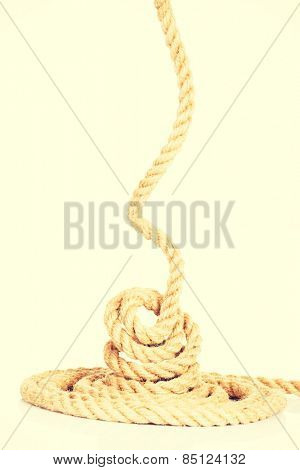 Enrolled rope.