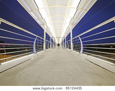Elevated walkway in the night