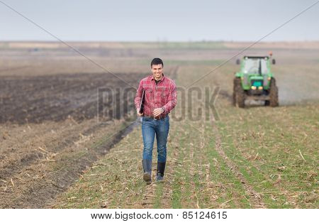 Farmer On Farmland