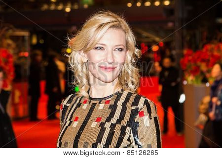 BERLIN, GERMANY - FEBRUARY 13: Cate Blanchett attends the 'Cinderella' premiere during the 65th Berlinale Film Festival at Berlinale Palace on February 13, 2015 in Berlin, Germany.