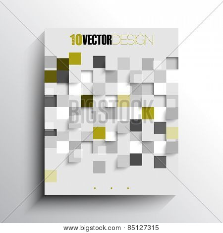 overlapping rumbled checkered squares geometric elements business background eps10 vector