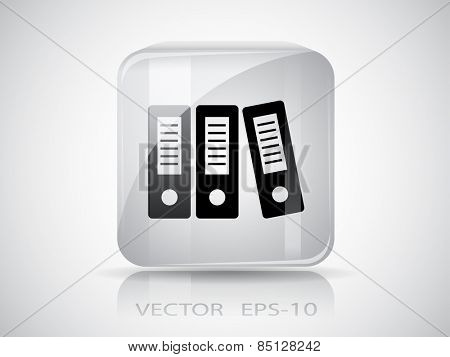 Row of binders icon, vector illustration