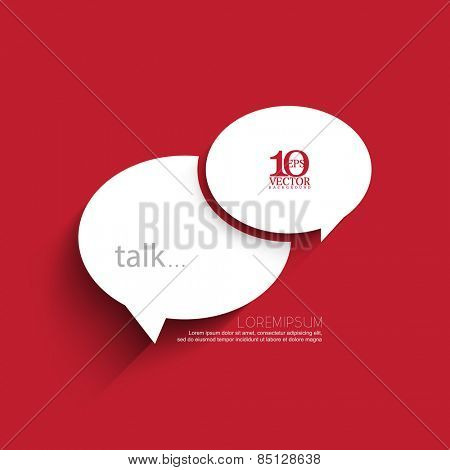 eps10 vector white overlapping chat icon concept illustration