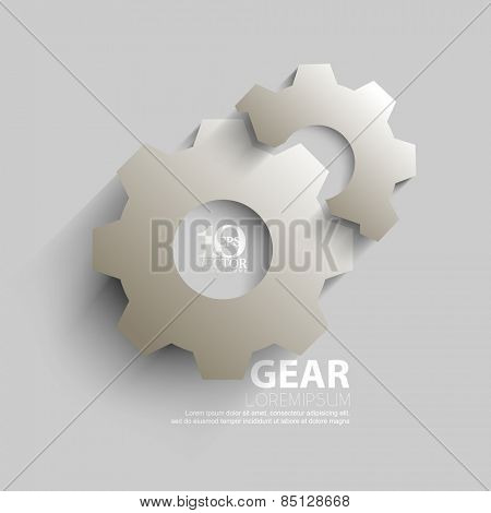 eps10 vector overlapping embossed gear elements background