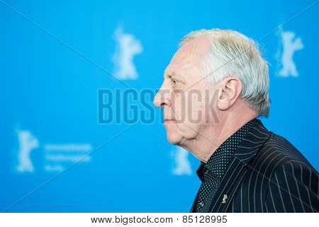 BERLIN, GERMANY - FEBRUARY 11: Director Peter Greenaway. 'Eisenstein in Guanajuato' photocall. 65th Berlinale International Film Festival at Grand Hyatt Hotel on February 11, 2015 in Berlin, Germany.