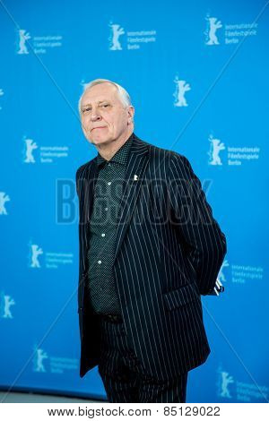 BERLIN, GERMANY - FEBRUARY 11: Director Peter Greenaway, 'Eisenstein in Guanajuato' photocall. 65th Berlinale International Film Festival at Grand Hyatt Hotel on February 11, 2015 in Berlin, Germany.