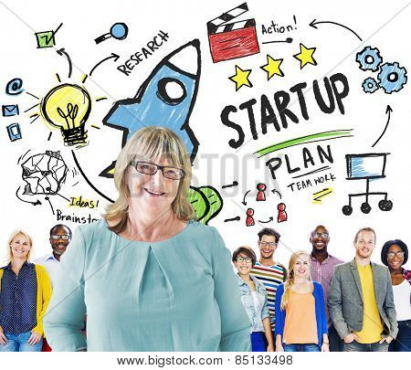Start Up Business Launch Success People Leadership Concept